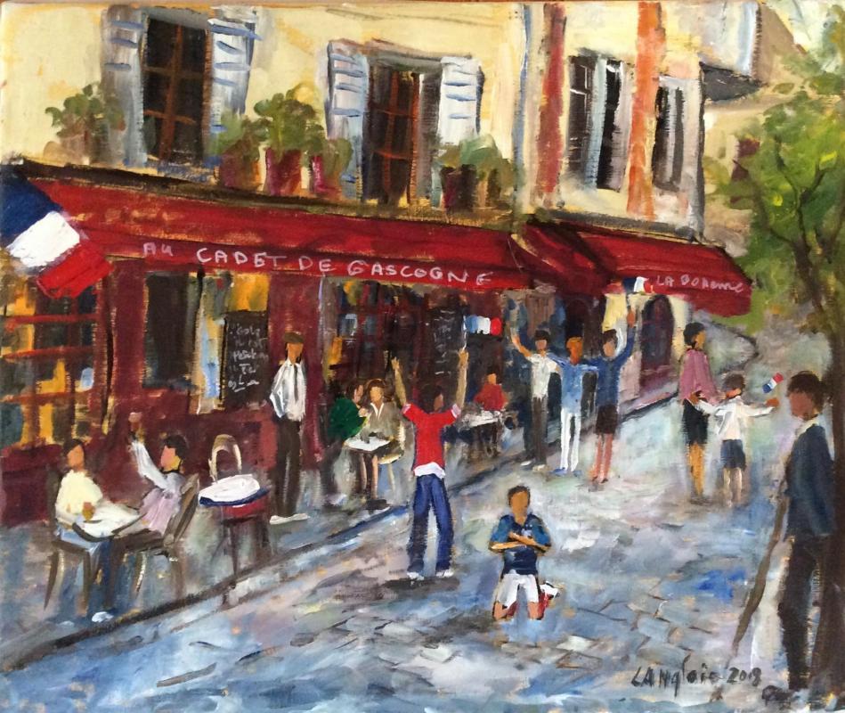 Coupe du monde Place du tertre Montmartre